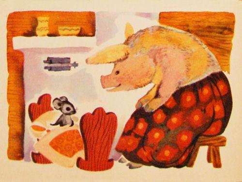 Иллюстрации к сказке сказка о глупом мышонке