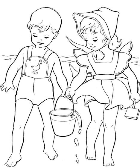 Раскраски для детей про детский сад. Раскраски на летнюю ...