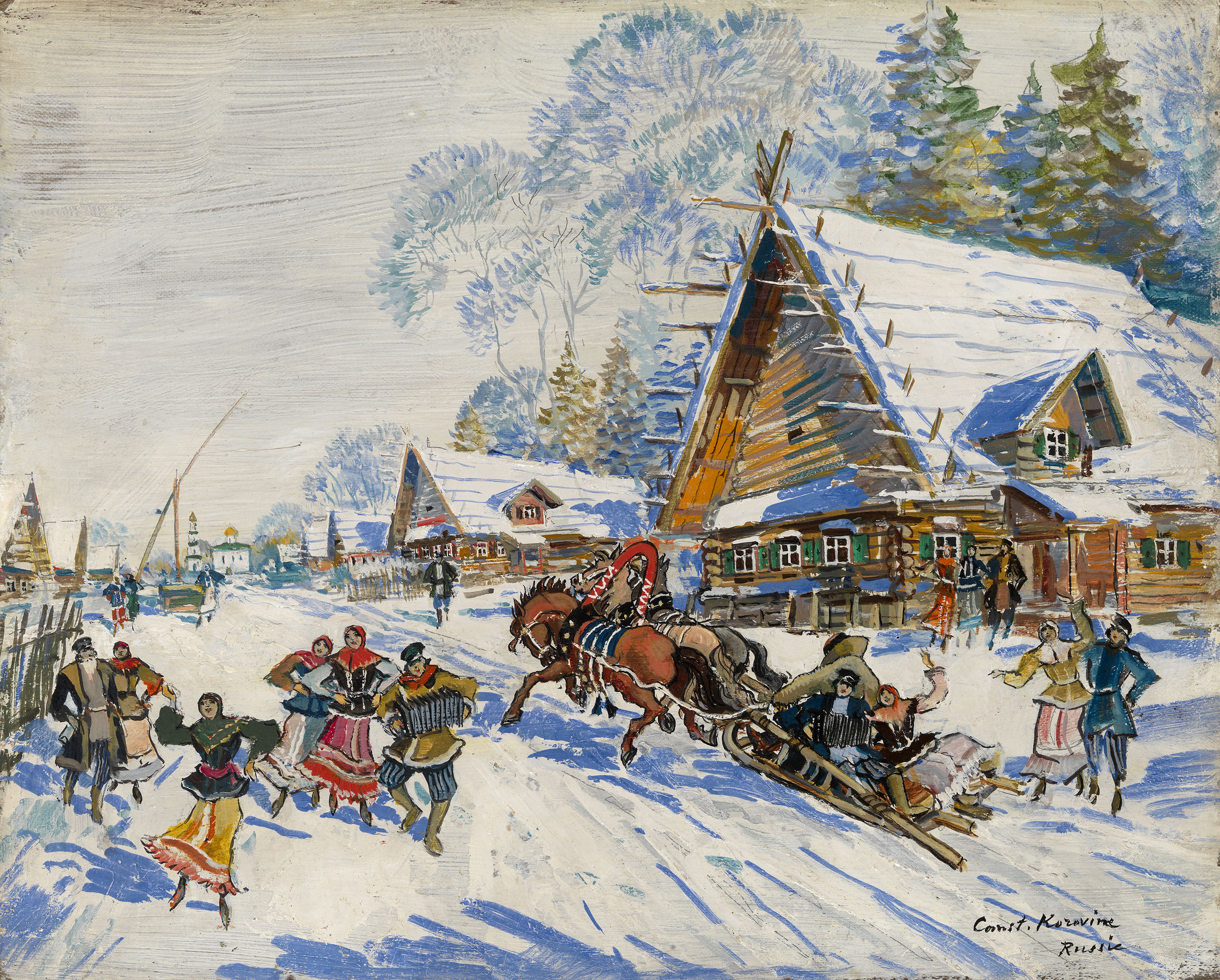 KOROVIN, KONSTANTIN Russian Village in Winter