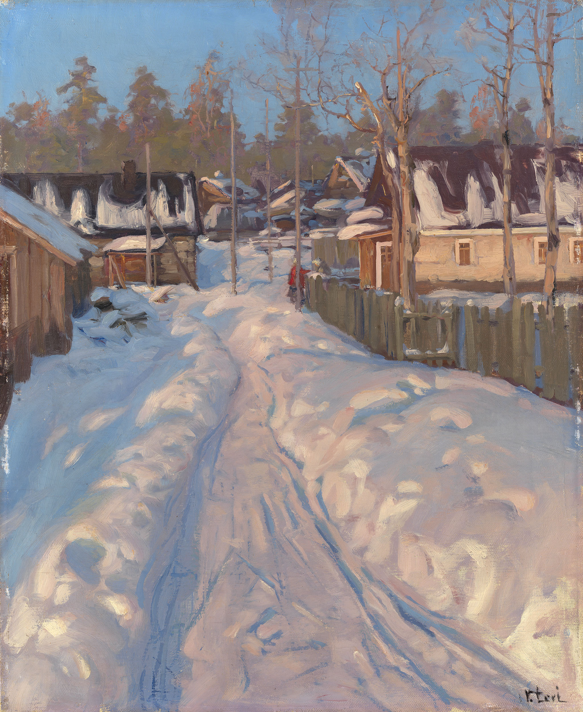 LEVI, VASILY Russian Village in Winter