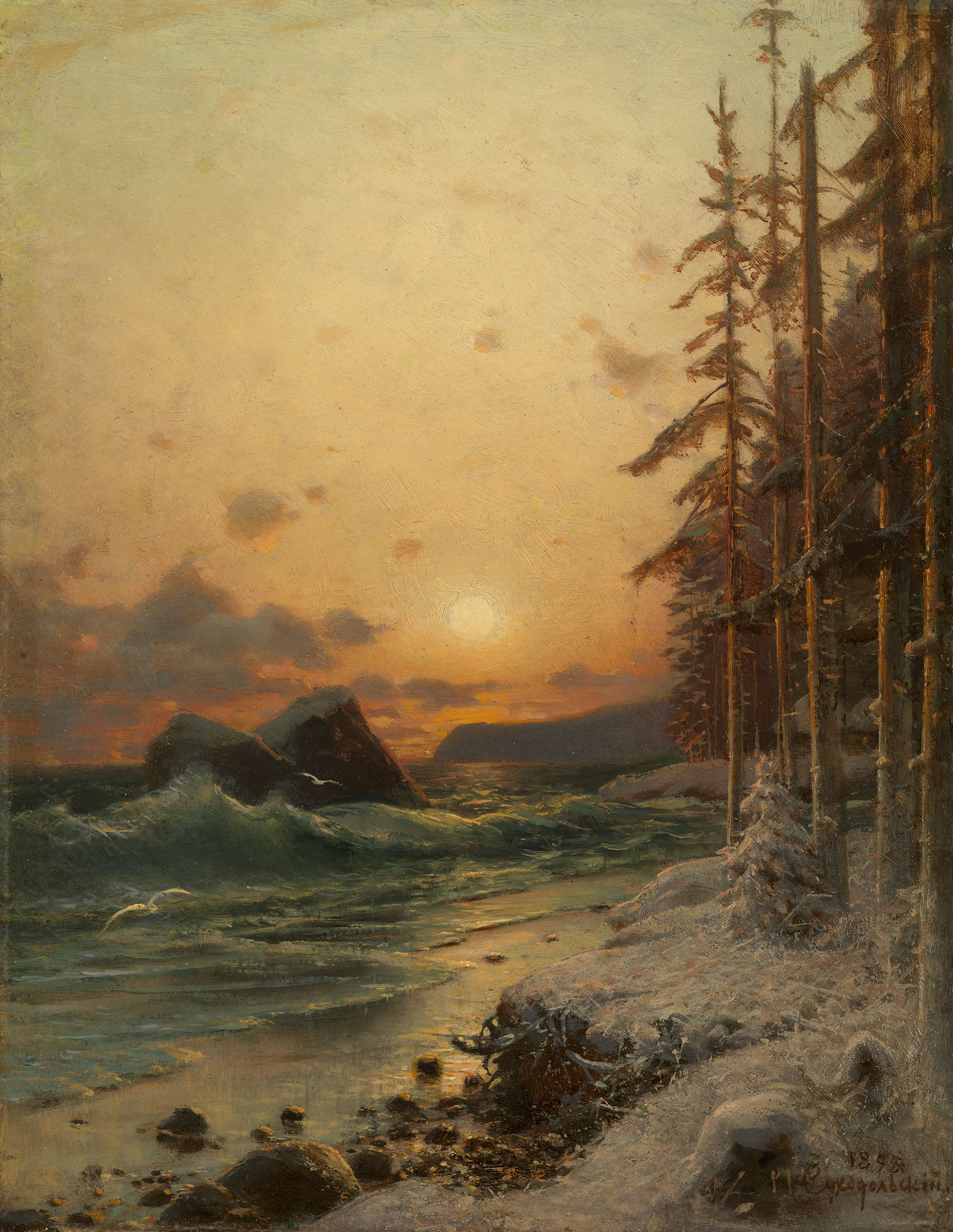 SUKHODOLSKY, PETR The Northern Coast in Winter